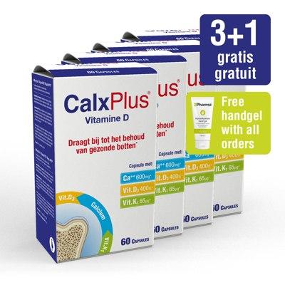Paquet CalxPlus (4 x 60 capsules) vitamine D
